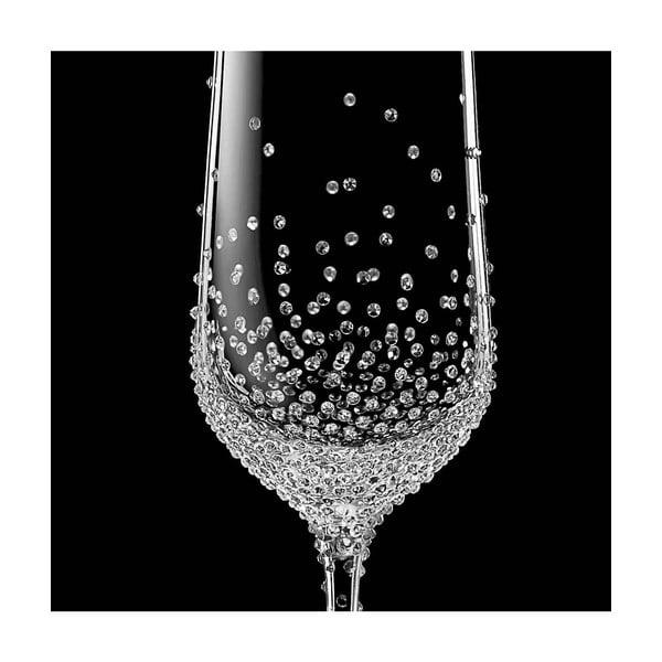 Zestaw 2 kieliszków do szampana Gaia ze Swarovski Elements
