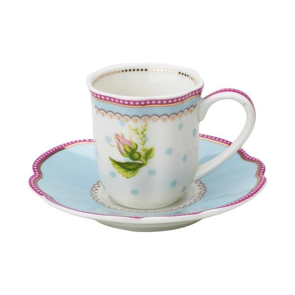Porcelanowa filiżanka na espresso ze spodkiem Lovely Lisbeth Dahl, 2 szt.
