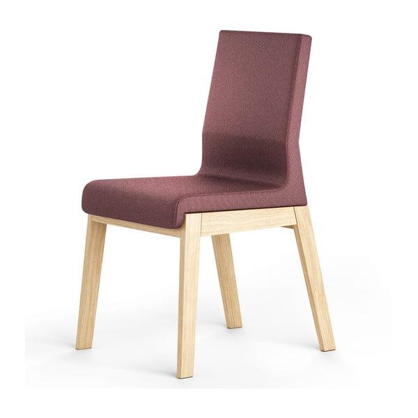 Jasnofioletowe krzesło dębowe Absynth Kyla