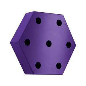 Stojak na wino Hexagon, fioletowy