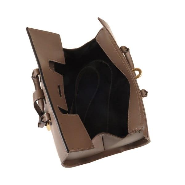 Skórzana torebka Emilio Masi Dabo, brązowa