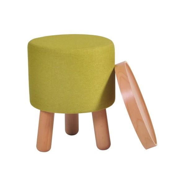 Zielony stołek ze zdejmowanym blatem Garageeight Molde, ⌀ 35 cm