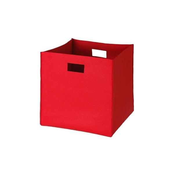 Filcowe pudełko 36x35 cm, czerwone
