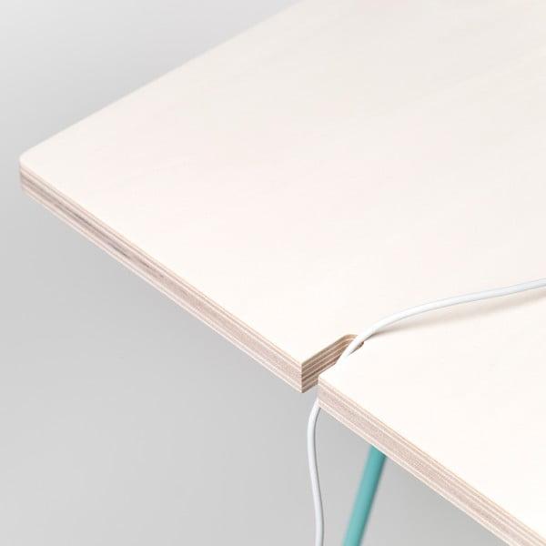 Blat Studio - drewno bielone, 130x60 cm