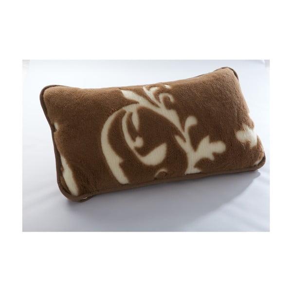 Brązowa poduszka z wełny wielbłąda Royal Dream Cappucino and Chocolate, 40x70 cm