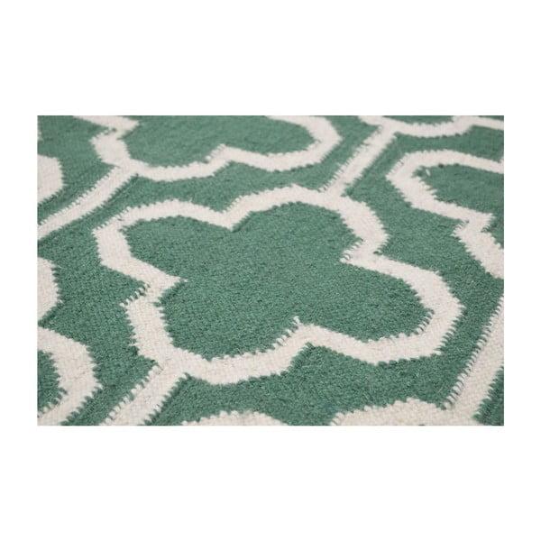 Dywan wełniany Penelope Green Ivory, 125x185 cm