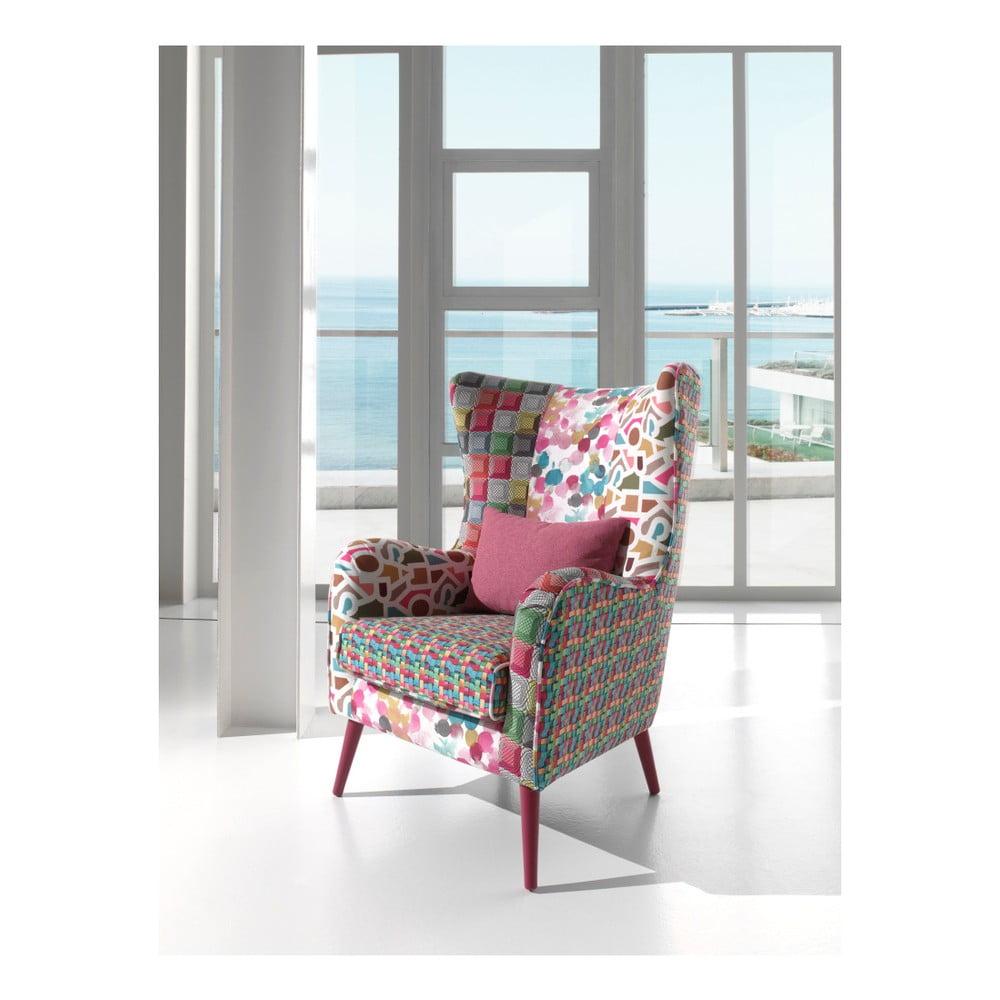kolorowy fotel sinkro piume bonami