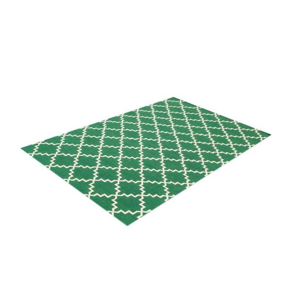 Dywan wełniany Eugenie Green, 200x140 cm