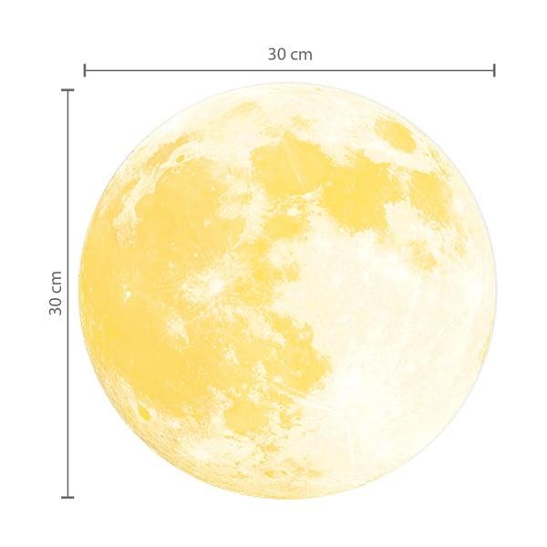 Naklejka świecąca w ciemności Księżyc