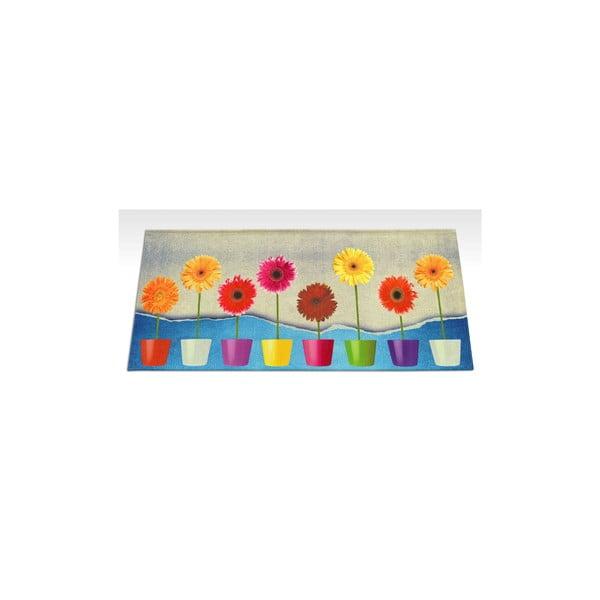 Wytrzymały dywan kuchenny Webtapetti Flower Power, 60x115 cm