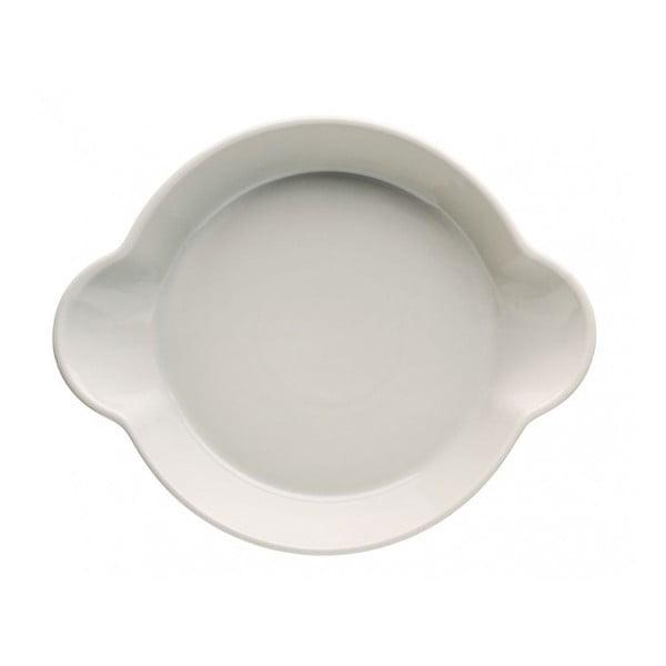 Beżowa porcelanowa miska Sagaform Piccadilly Uszy, 23x28,5 cm