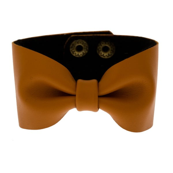 Bransoletka Leather Bow Mocha