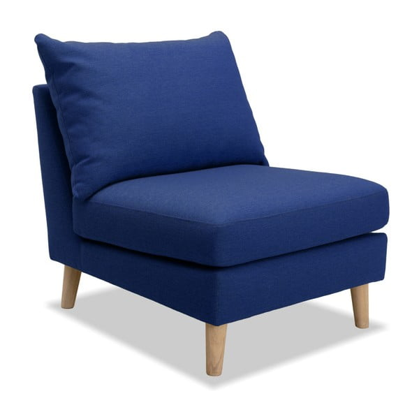 Niebieski fotel Vivonita Liam