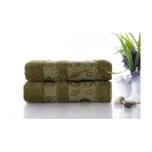 Zestaw 2 ręczników Bamboo Green, 50x90 cm