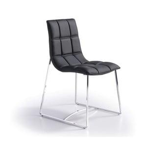 Czarne krzesło Ángel Cerdá Luisa