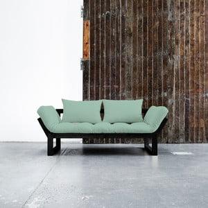 Sofa rozkładana Karup Edge Black/Peppermint