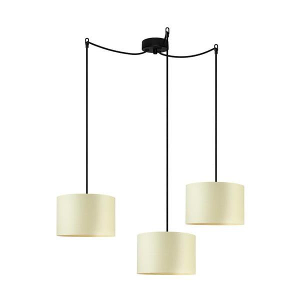 Czarno-żółta potrójna lampa wisząca Bulb Attack Tres, ⌀25cm