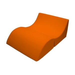 Pomarańczowy szezlong rozkładany 13Casa Cleo