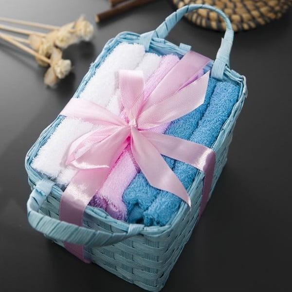 Zestaw 6 ręczników Hill Blue, 30x30 cm