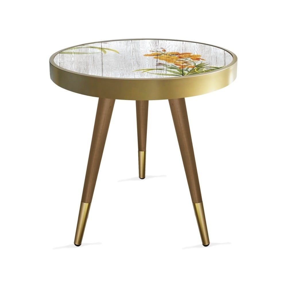 Stolik Rassino Orange Orchid Circle, ⌀ 45 cm