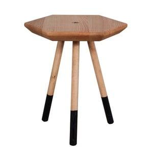 Stolik z litego drewna dębowego FLAME furniture Inc. Prizmata