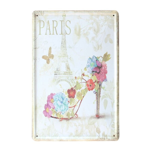 Tablica Paris Shoe, 20x30 cm