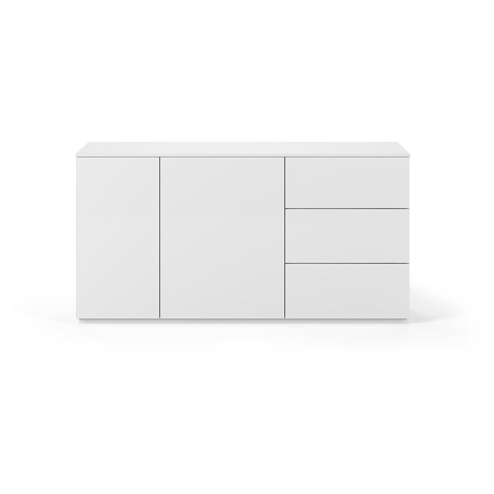 Biała komoda z matową powierzchnią, 2 drzwiczkami i 3 szufladami TemaHome Join, szer. 160 cm