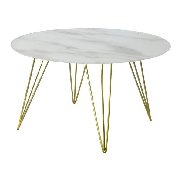 Marmurowy stolik z nogami w kolorze mosiądzu RGE Sevilla