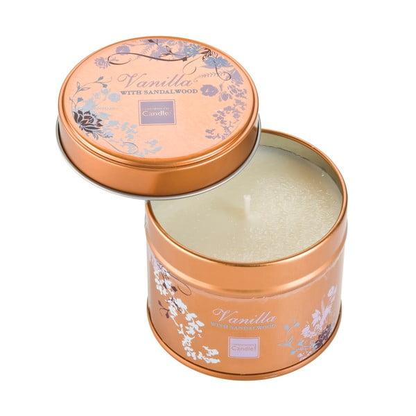 Świeczka zapachowa w puszcze o zapachu wanilii i sandałowca Copenhagen Candles, czas palenia 32 godz.