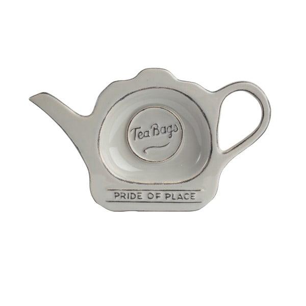 Szary spodek z ceramiki na torebki po herbacie T&G Woodware Pride of Place
