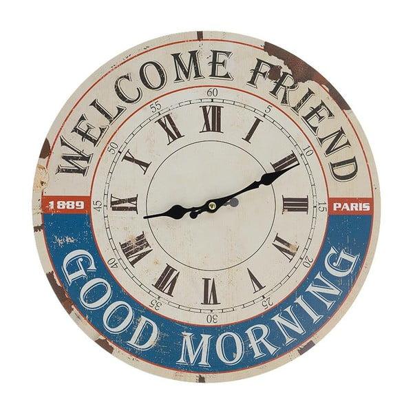 Zegar ścienny Welcome, 34 cm