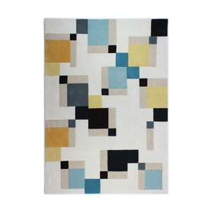 Niebieski dywan Flair Rugs Illusion Abstract Blocks, 80x150 cm