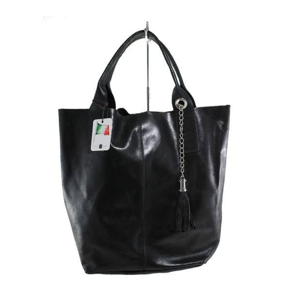 Czarna skórzana torebka Toti