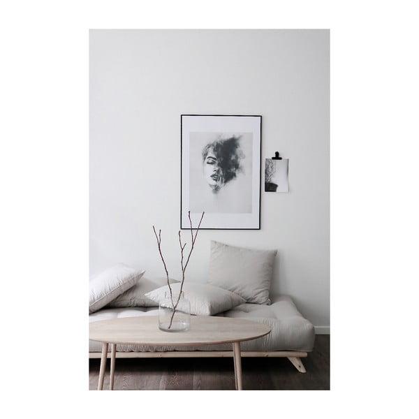 Sofa z ciemnoszarym obiciem Karup Design Senza Black/Dark Grey