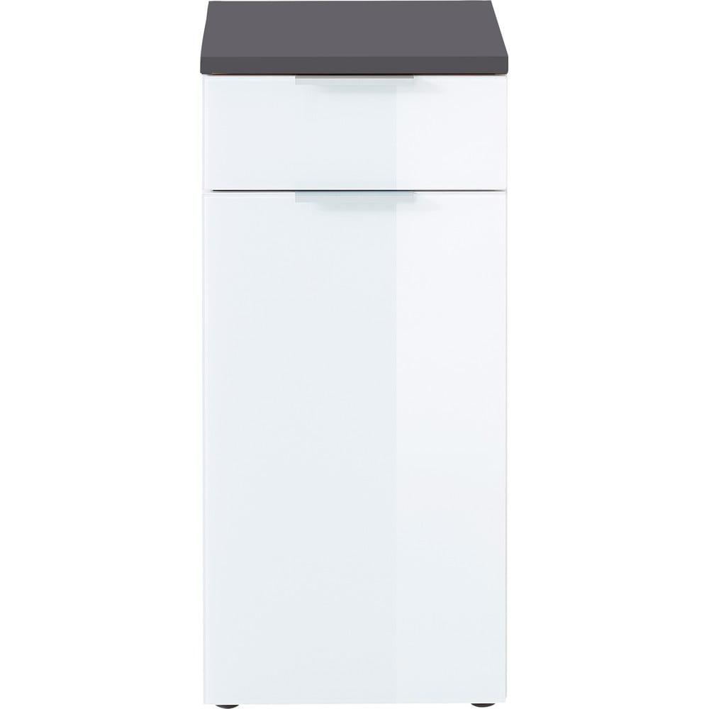 Biało-szara szafka Germania Pescara, wys. 86 cm