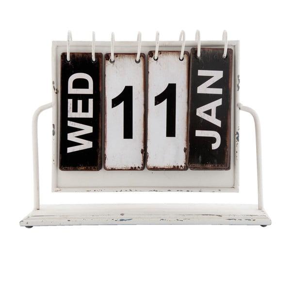 Biało-czarny kalendarz Clayre & Eef Vintage
