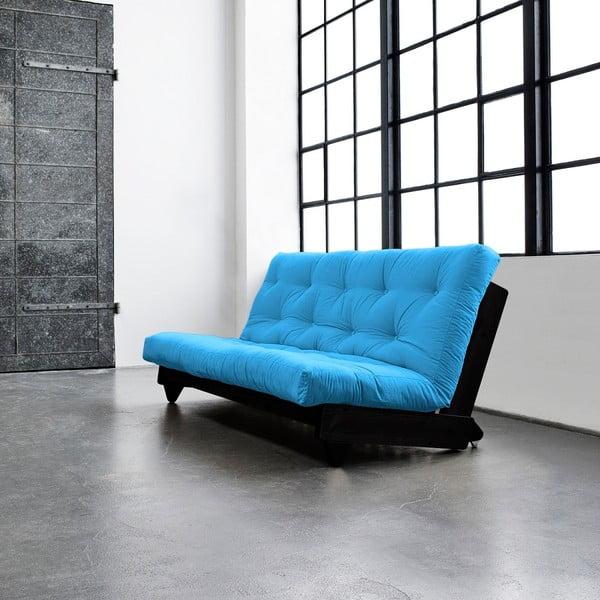Sofa rozkładana Karup Fresh Wenge/Horizon Blue