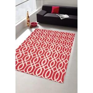 Wytrzymały dywan kuchenny Webtapetti Wallpaper Coral Red,80x130cm