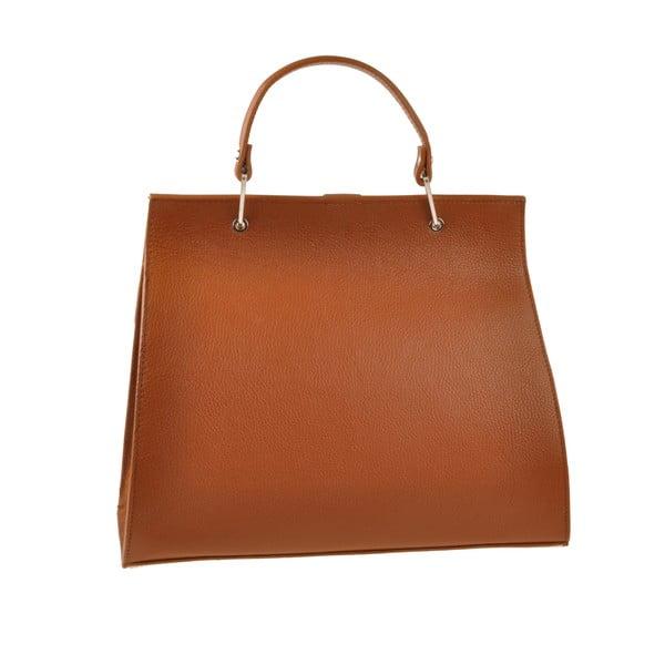 Skórzana torebka Pau, koniakowa