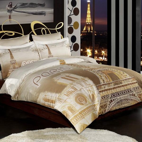 Pościel z prześcieradłem Eiffel Paris, 200x220 cm