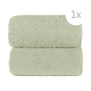 Jasnozielony ręcznik kąpielowy Graccioza Loop, 70x140cm