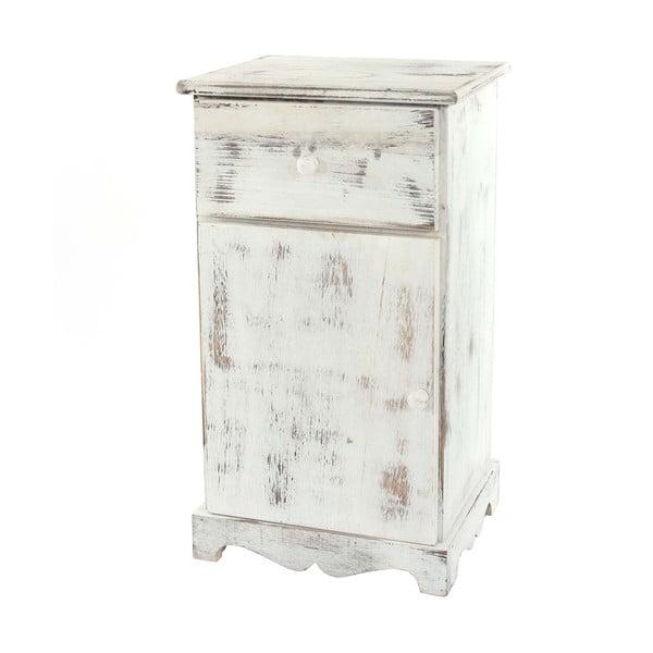 Biała szafka nocna Mendler Shabby