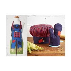 Zestaw dziecięcy: fartuch, czepek, rękawica kuchenna Scarecrow