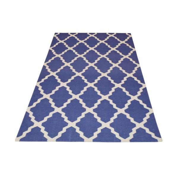 Ręcznie tkany dywan Kilim Design Four Blue, 160x230 cm