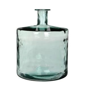 Zielony wazon szklany Mica Guan, 44x35cm