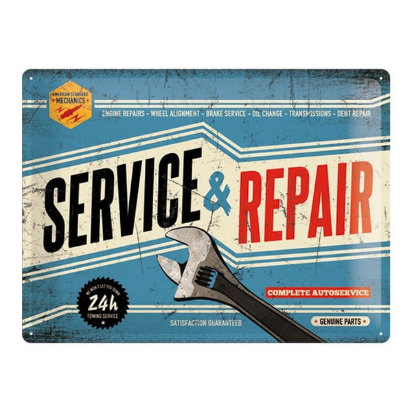 Blaszana tablica Service and Repair, 30x40 cm