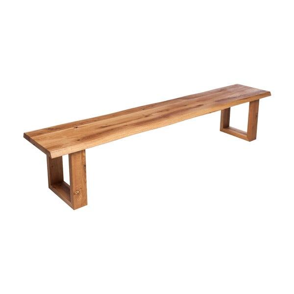 Ławka z dębowego drewna Fornestas Fargo Fornacis, długość 180cm