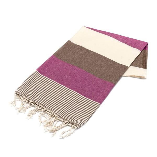 Ręcznik hammam American Stripes Cherry, 100x180 cm