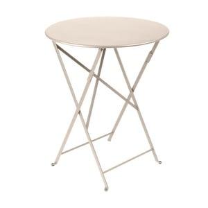 Kremowy składany stół metalowy Fermob Bistro