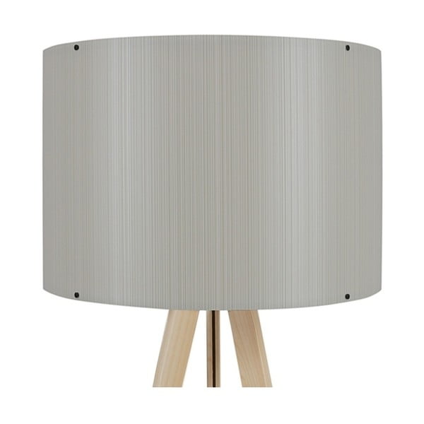 Lampa stojąca z jasnoszarym abażurem Aiden